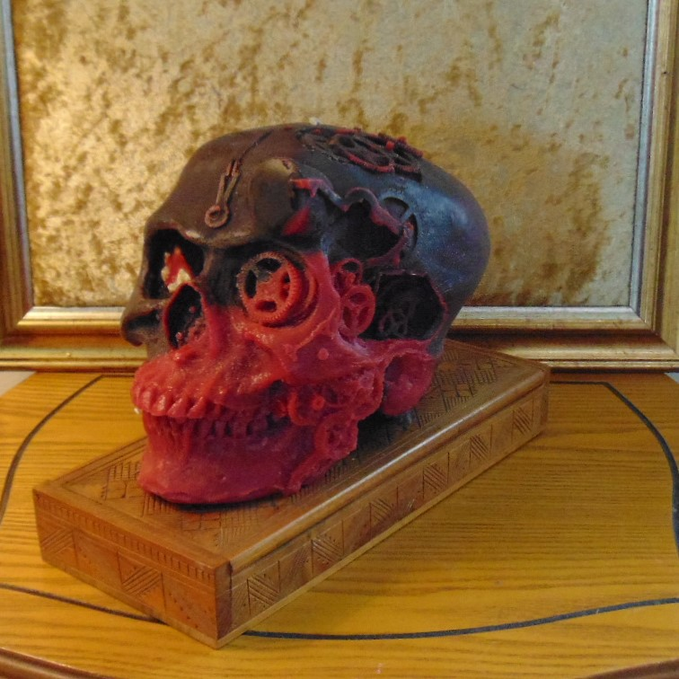 Candle - Steampunk Skull Design #4