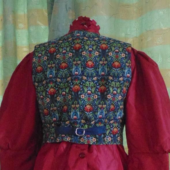 Waistcoat - Ladies or Child's Handmade Waistcoat in William Morris Design #2