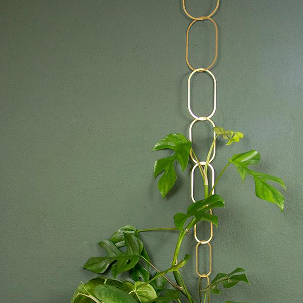 Botanopia Brass Trellis - support for climbing plants