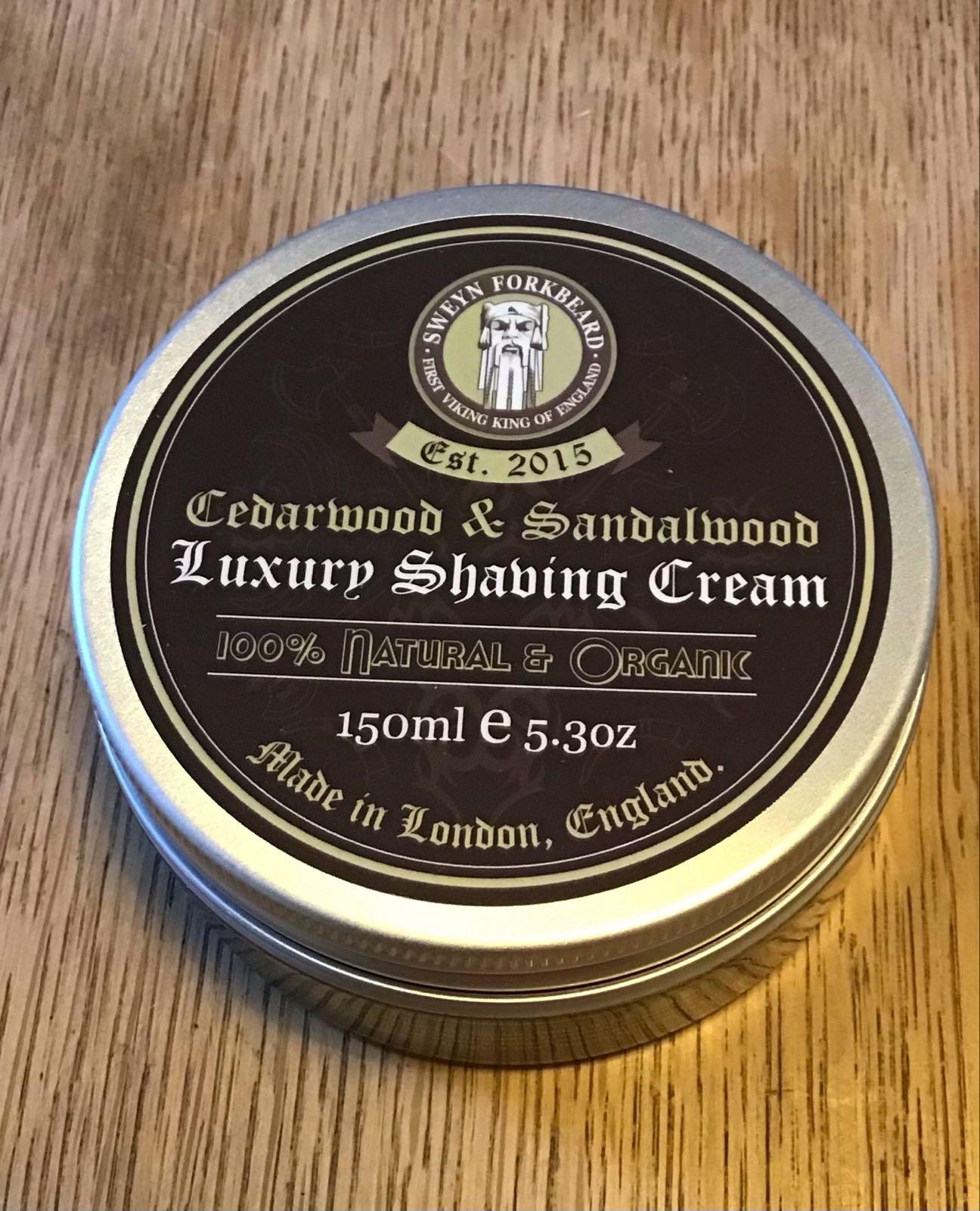 SF  Cedar & Sandalwood shaving cream