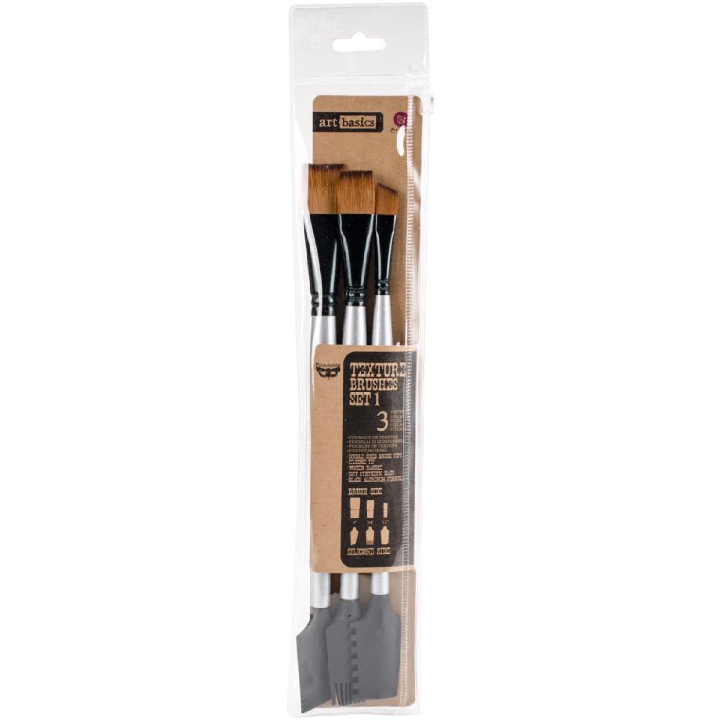 Finnabair Art Basics Double Ended Texture Brushes - Set 1