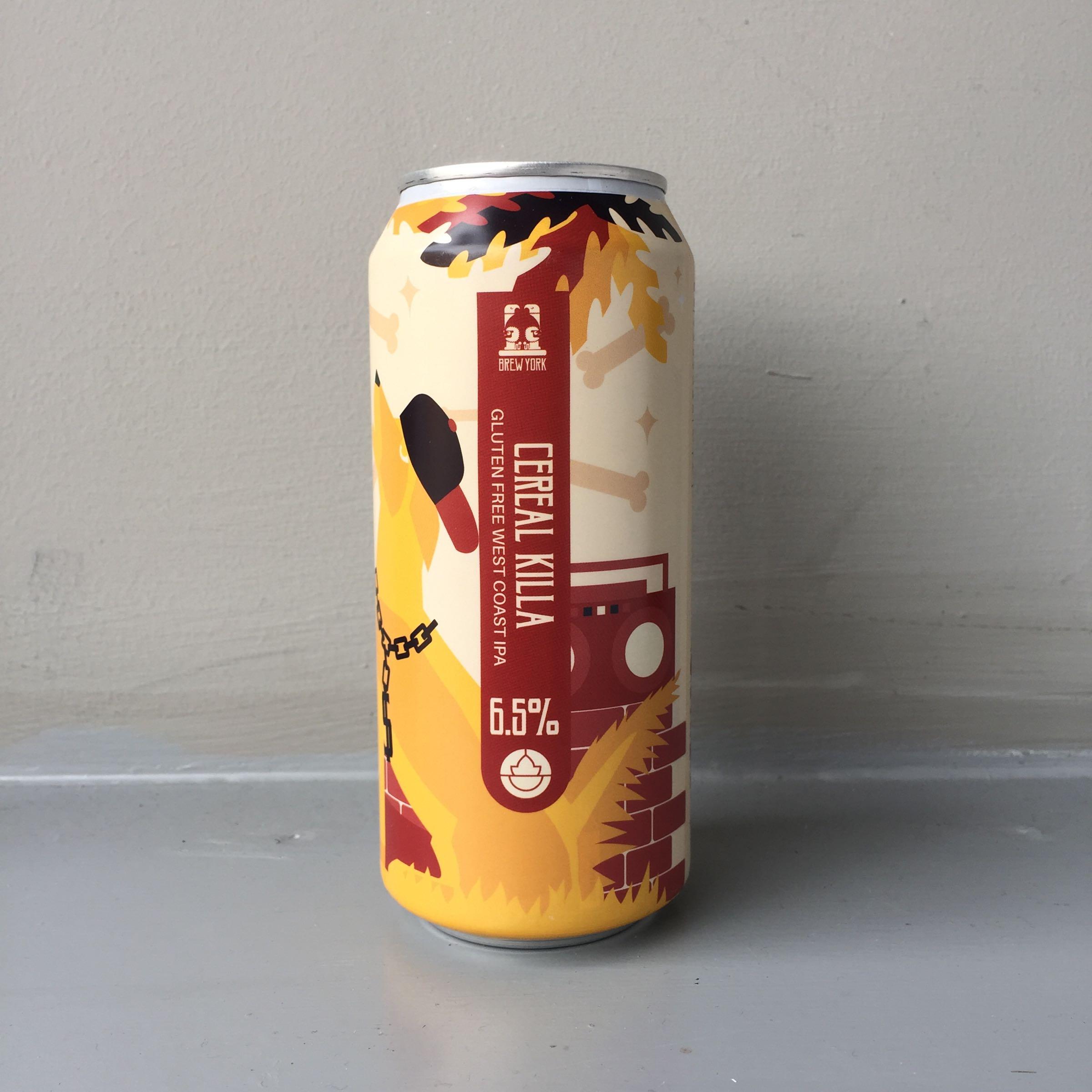 Brew York 'Cereal Killer' Gluten Free West Coast IPA 440ml 6.5% ABV