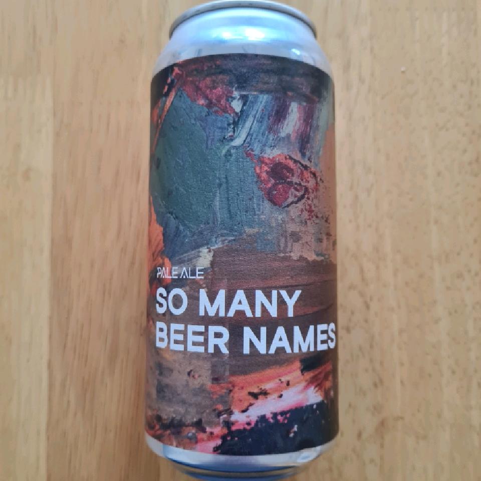 Boundary So Many Beer Names