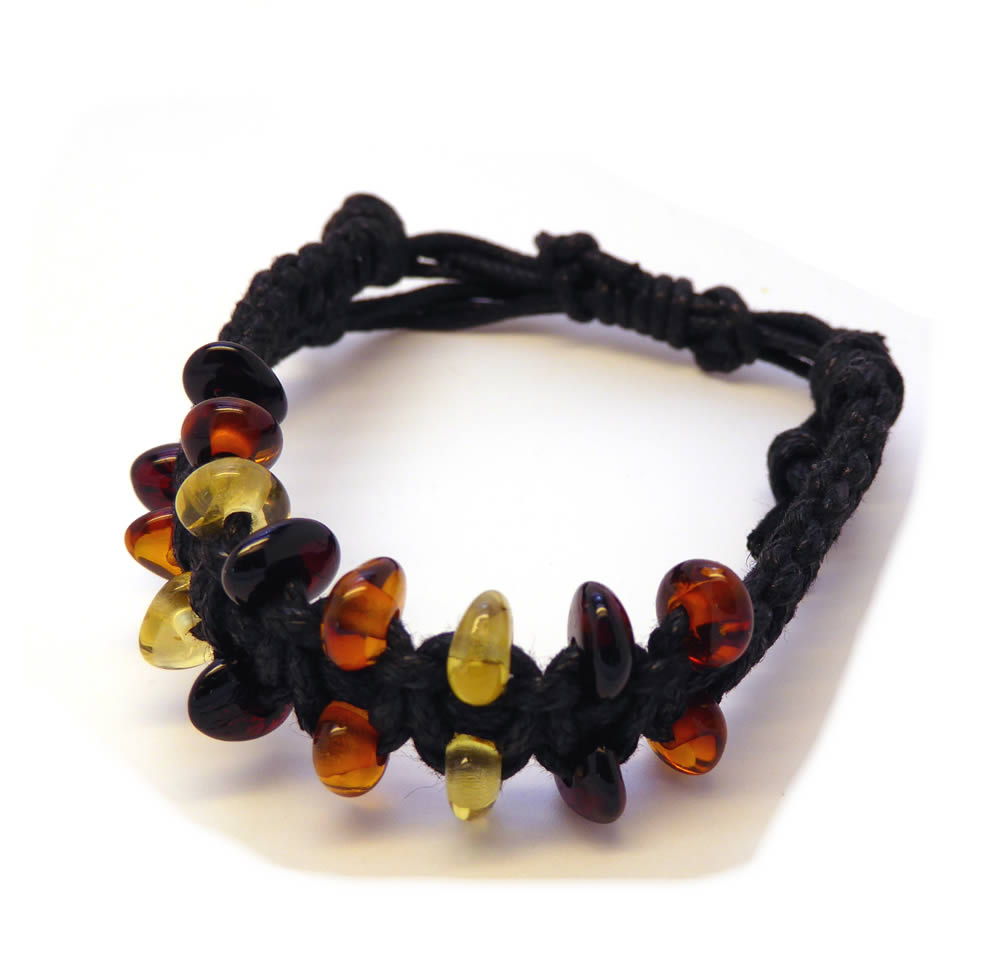 Amber Braided Bracelet - Adult
