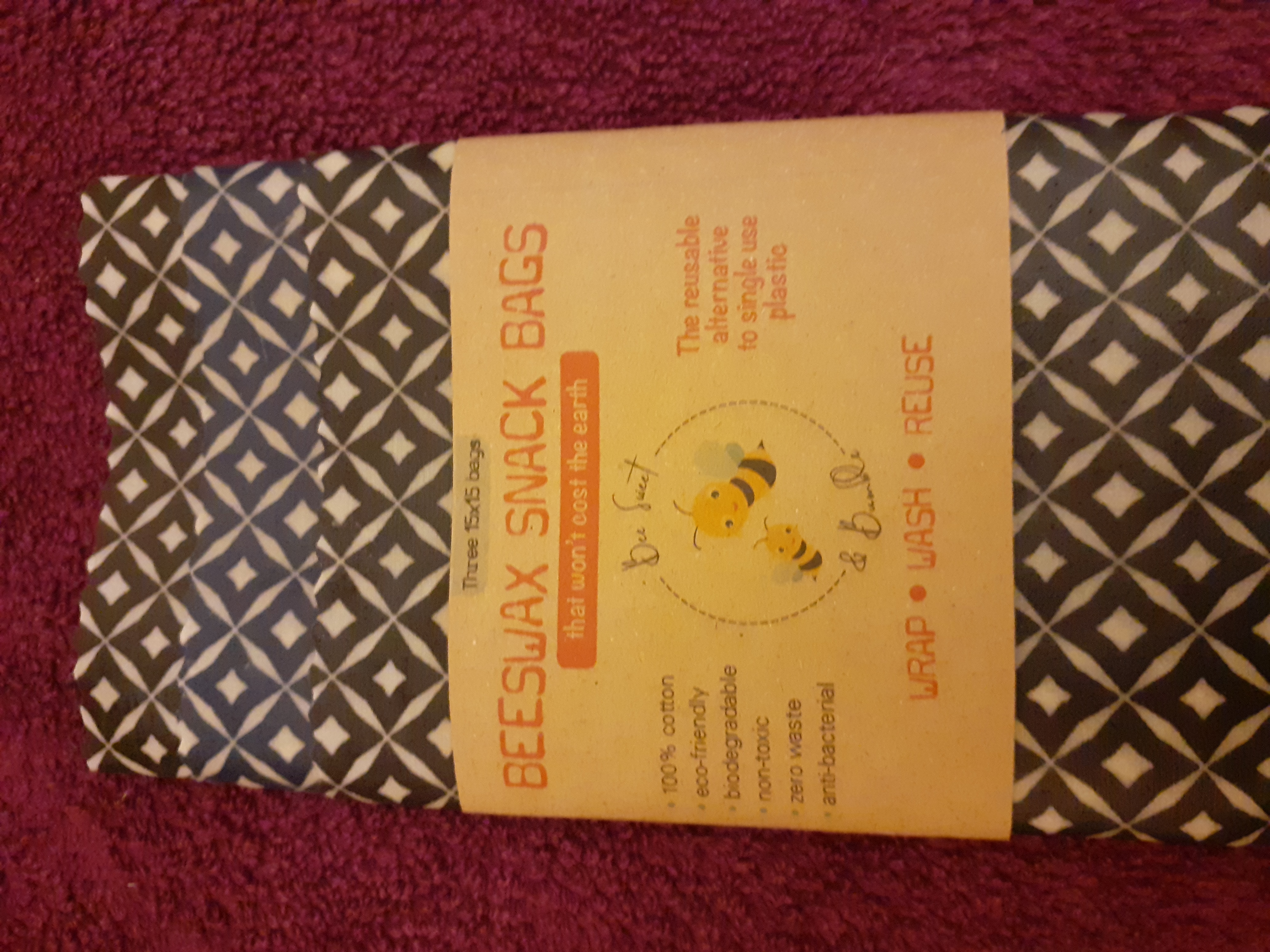 Beeswax Snack bag - 3 bags