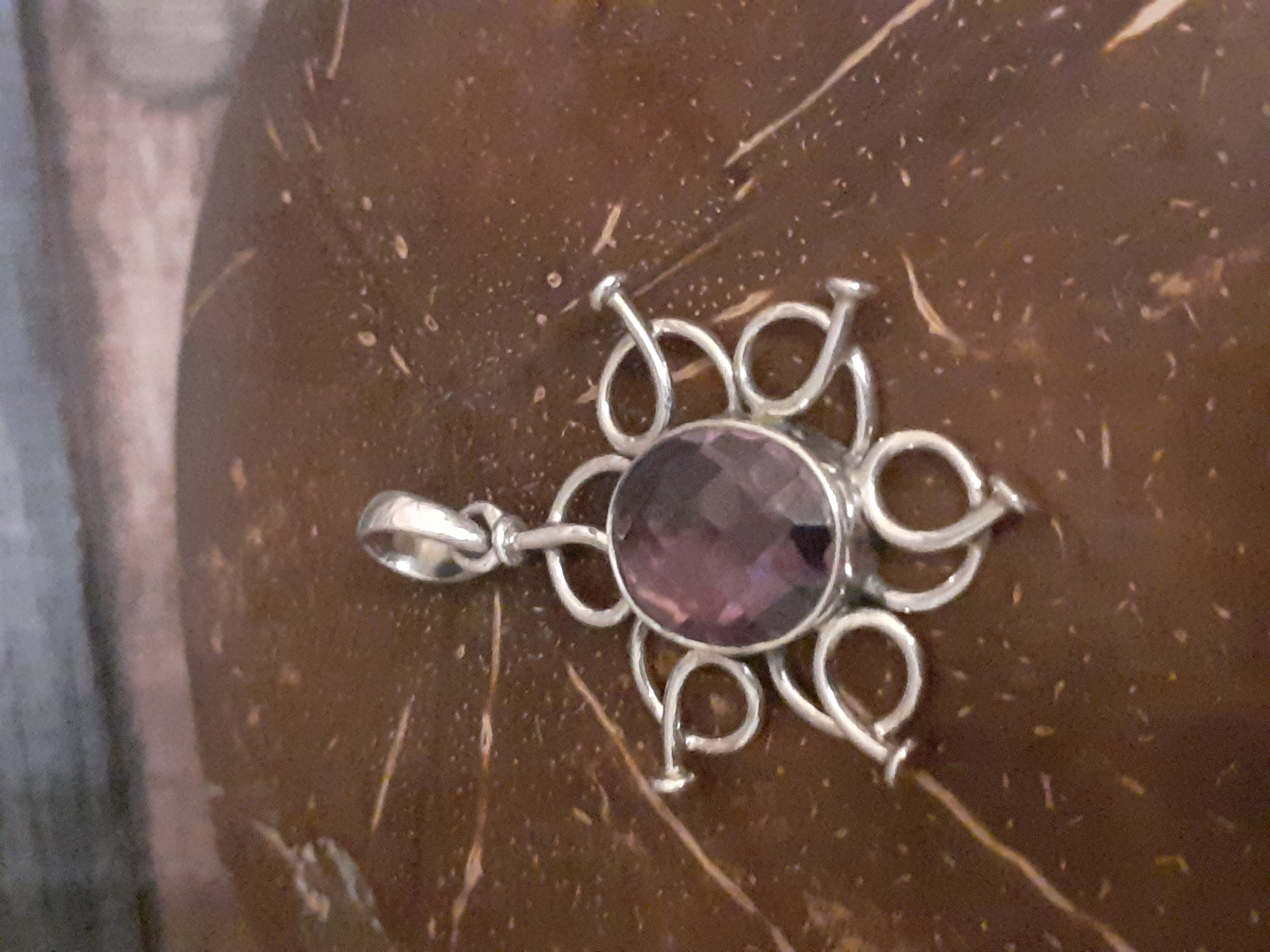Amethyst With Wire Flower (P5)