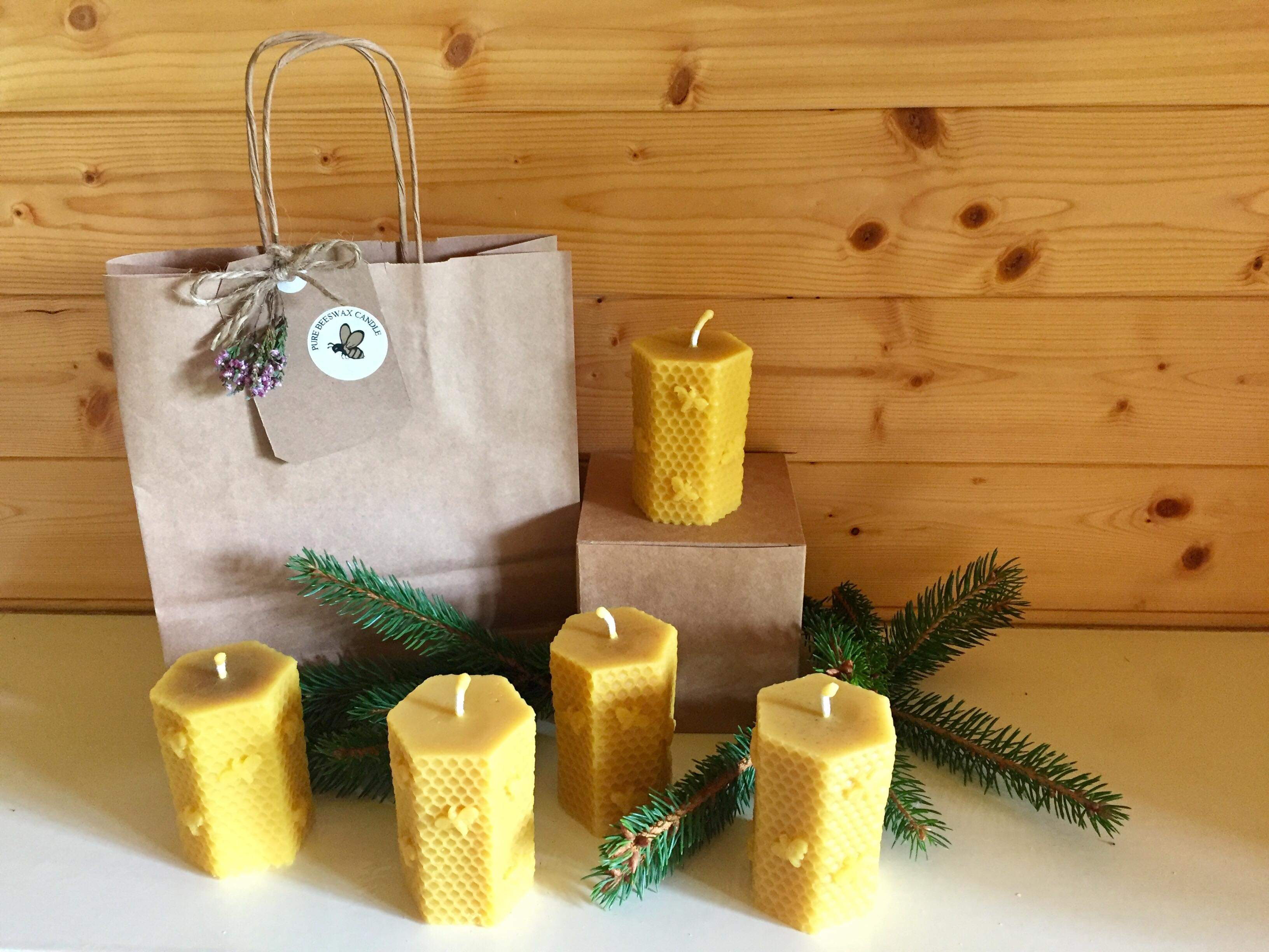 Hexagonal Beeswax Candle