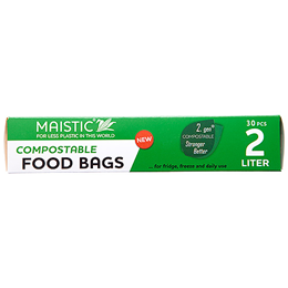 Food Bags - Freezer bags - 2 litre - 30 bags - home compostable