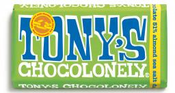 Tony's Chocolonely - 51% dark Chocolate Almond Sea Salt
