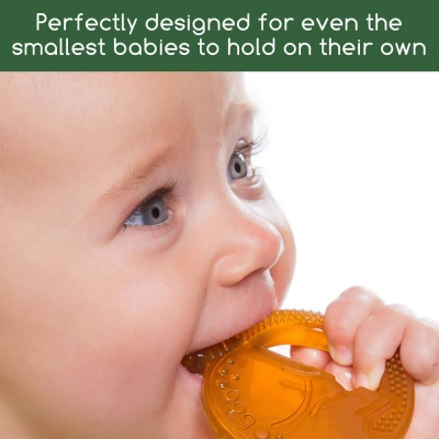 Boo the Bunny 100% Natural Rubber Teether