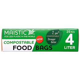 Food Bags - 4 litre - home compostable