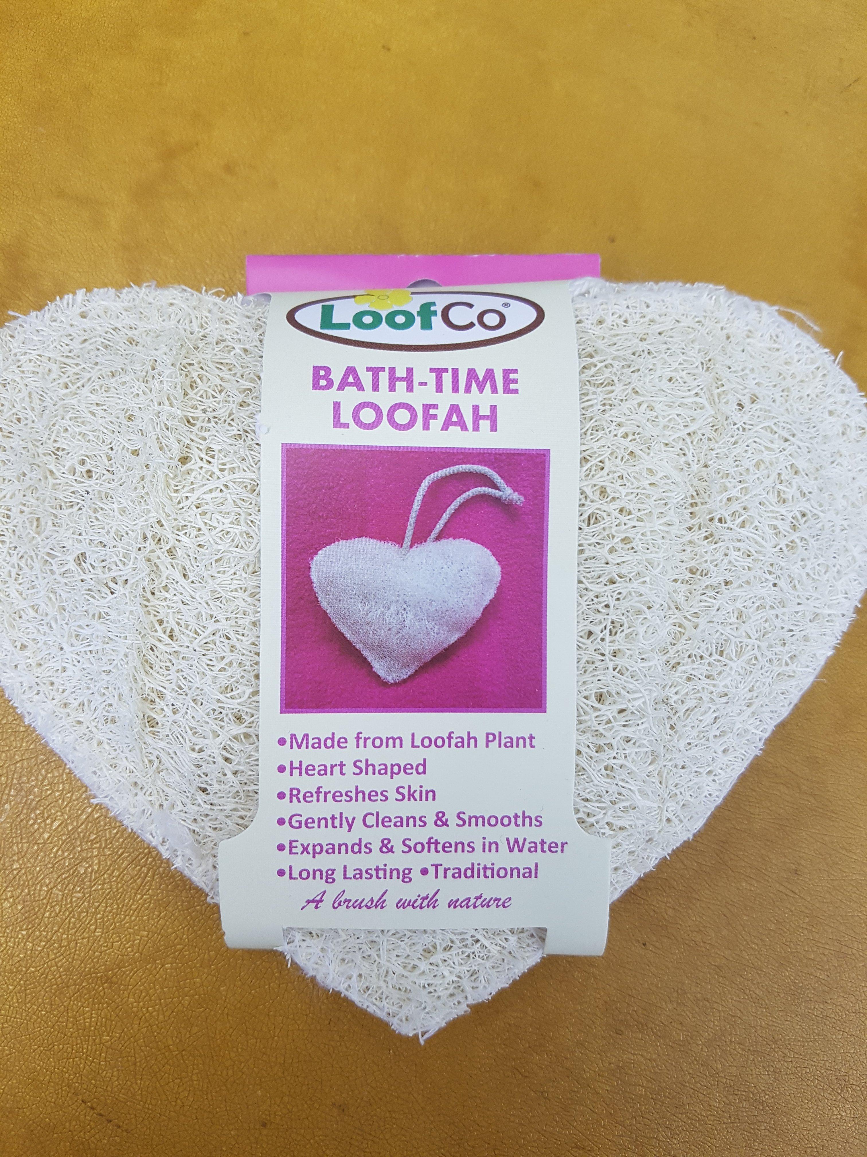 Heart bath time loofah