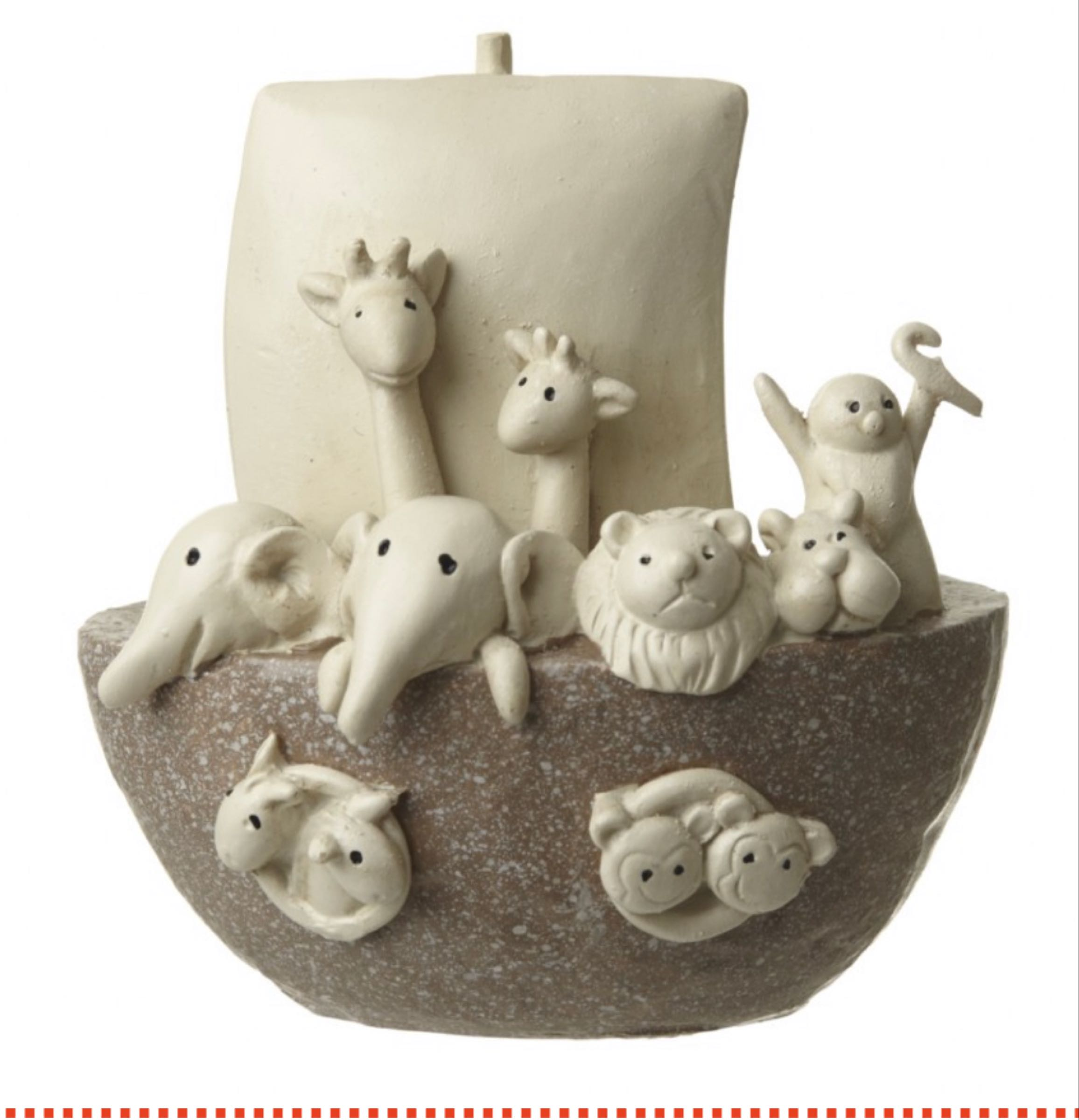 10cm poly resin  Noah's Ark decor