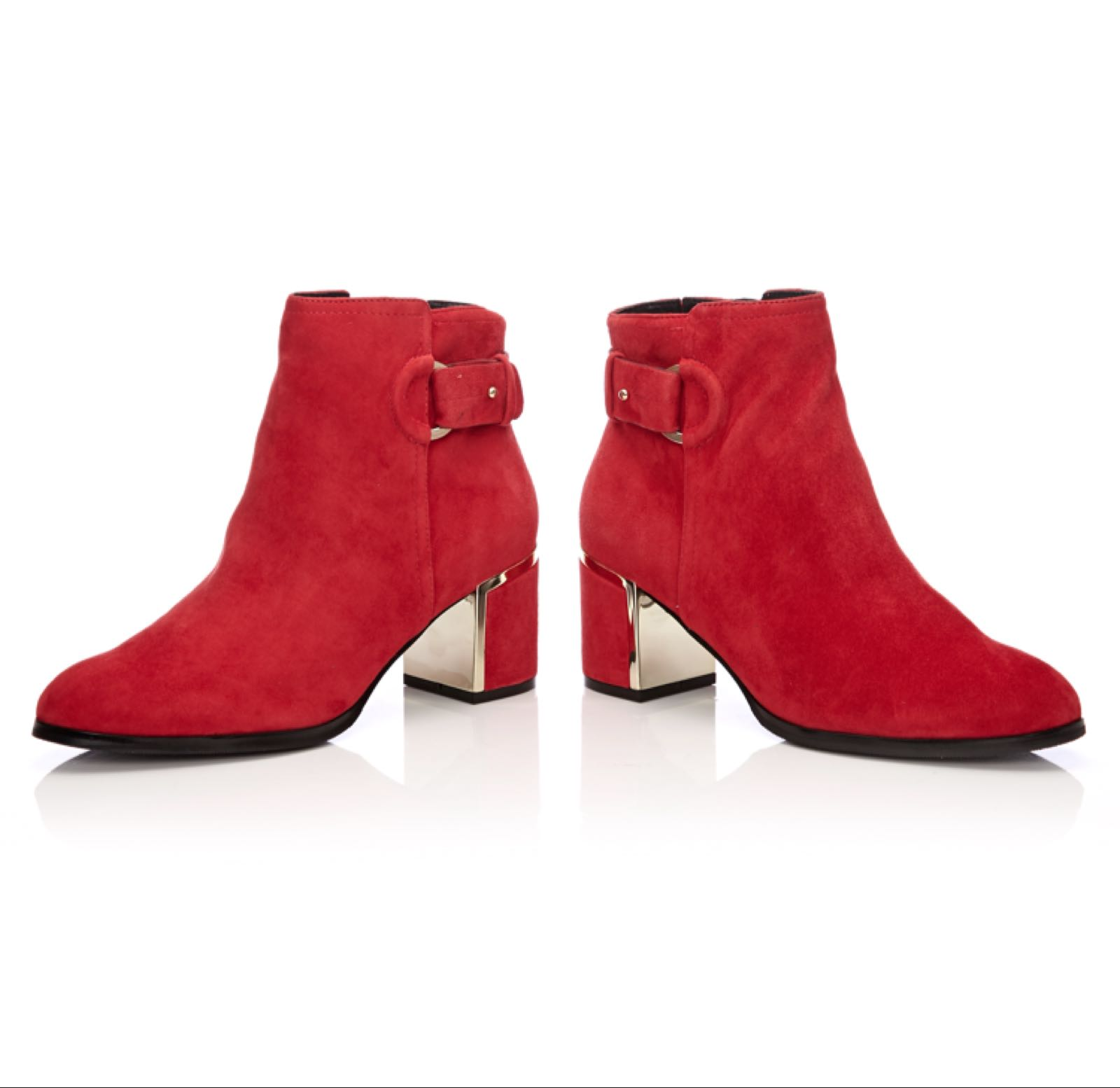 Moda in Pelle Laurista Red Suede
