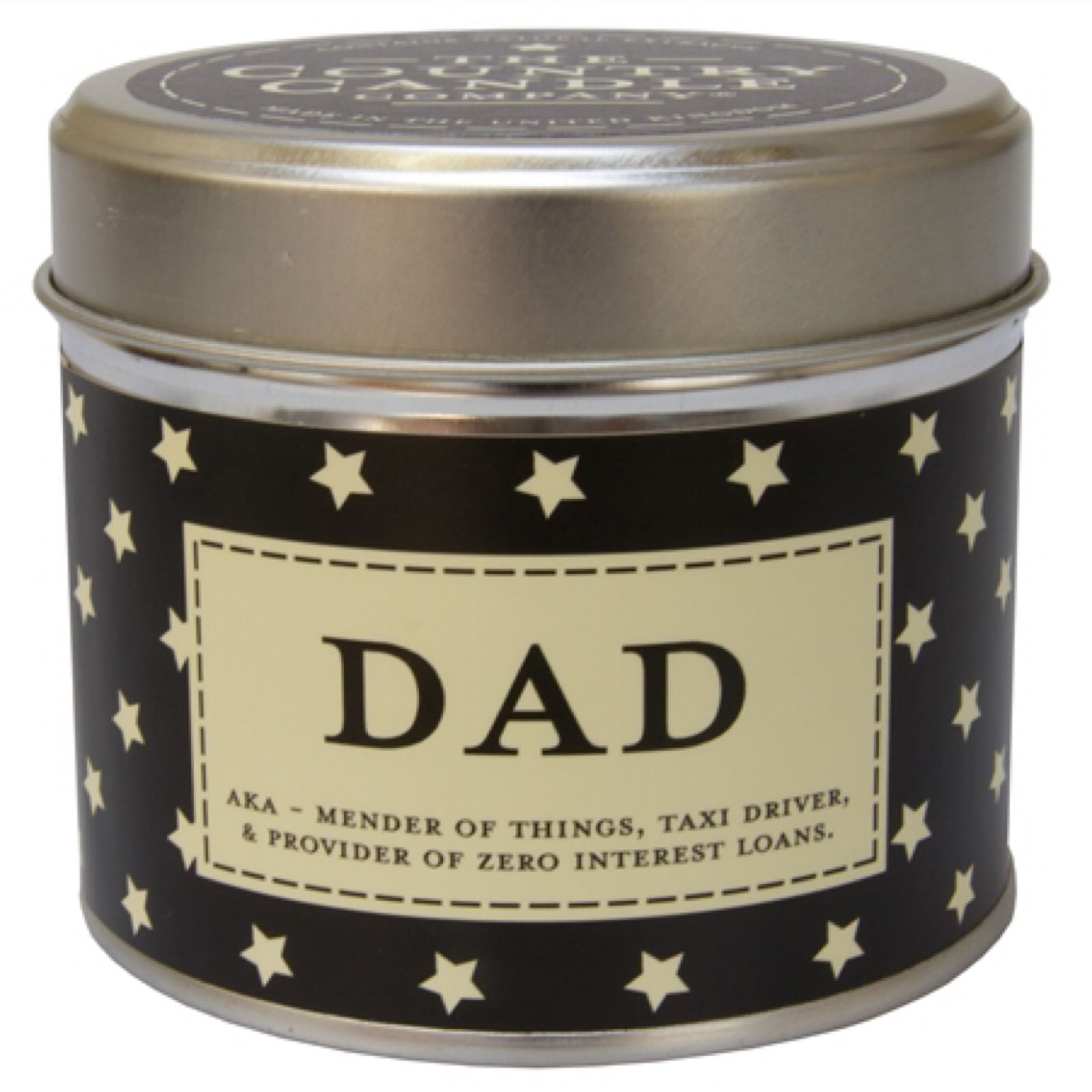 'Dad' Candle in a Tin (Was £8.50)