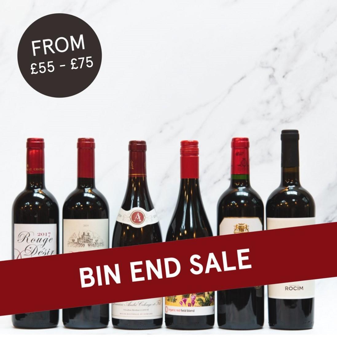 Bin End Mixed Reds Case £55 - £65 - £75