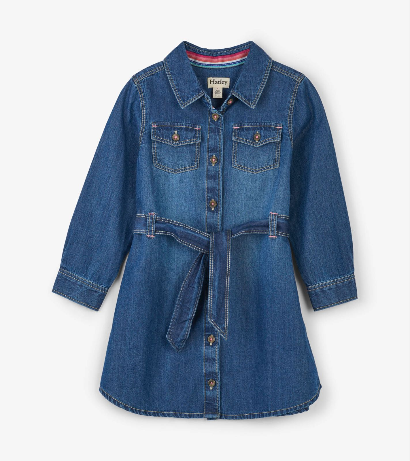 Hatley Button Down Denim Belted Dress