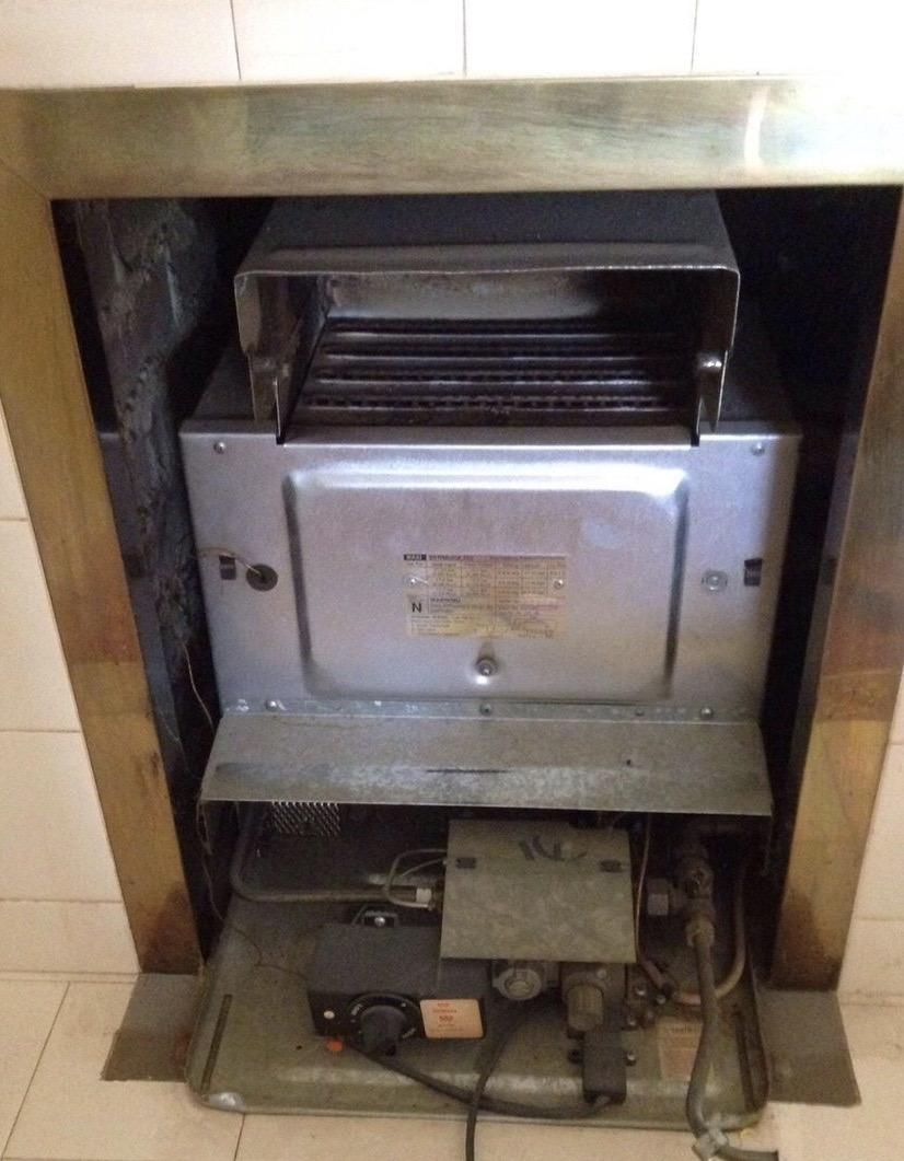 Service Back Boiler Unit & Gas Fire
