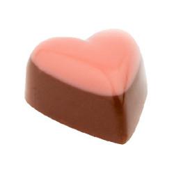 Rosa hjerte med nougat fyll