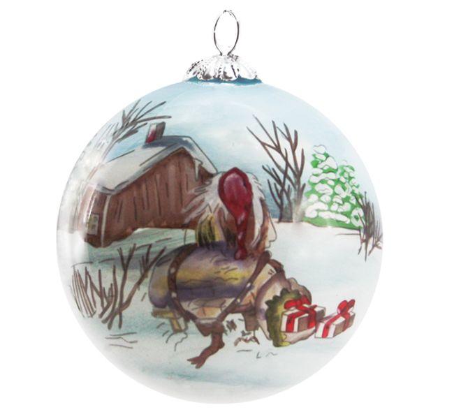 Julekule Håndmalt gammelnissen