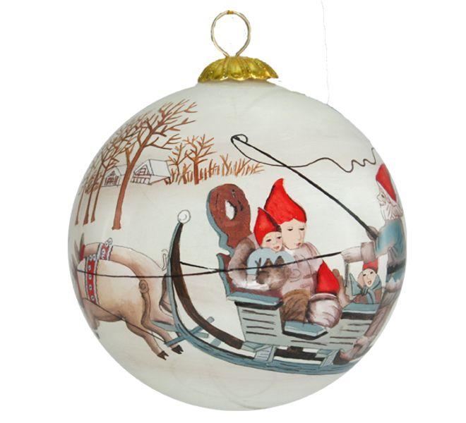 Julekule Håndmalt Nissen og grisen