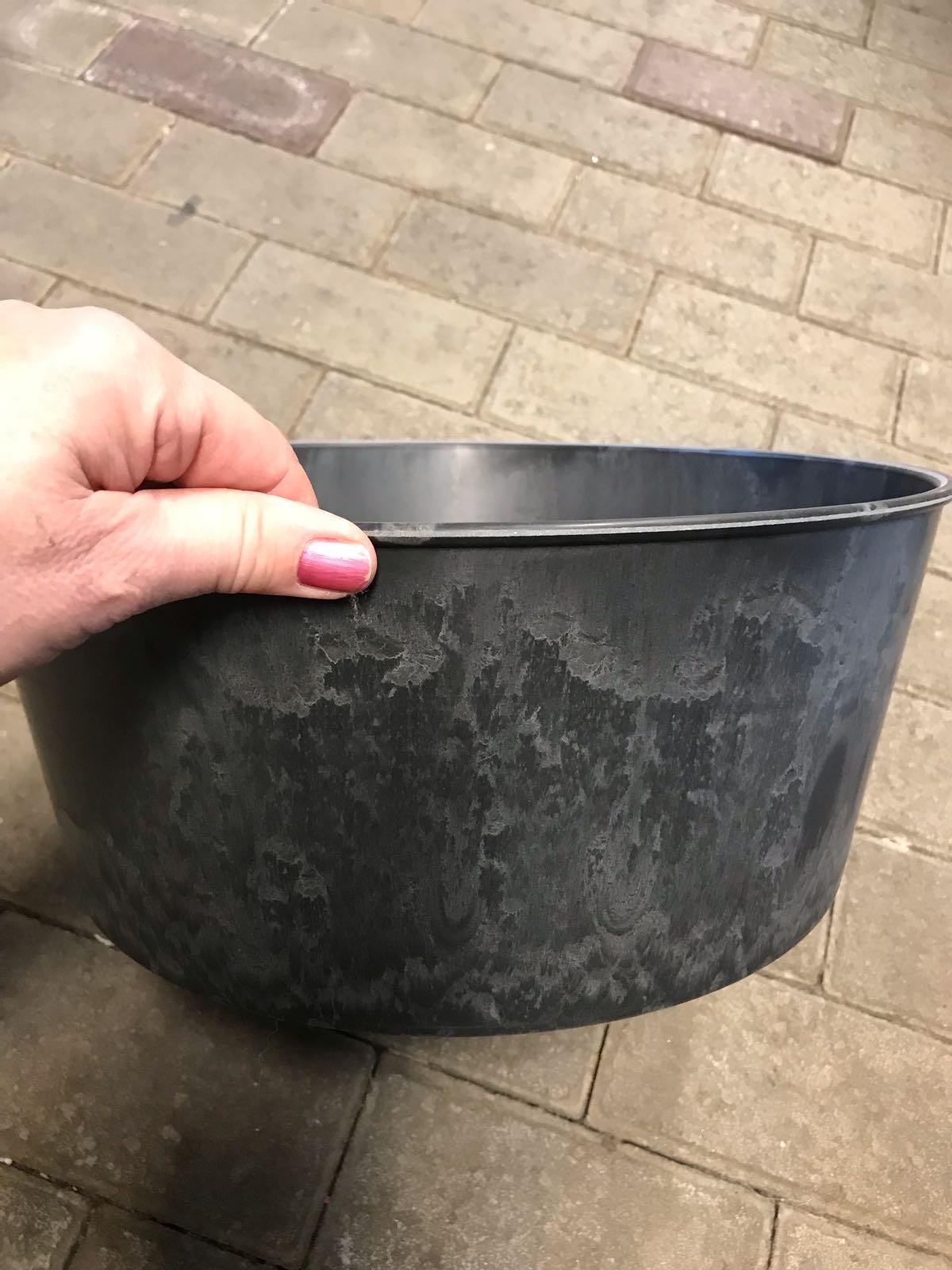 Kruka grå36x30x16 cm