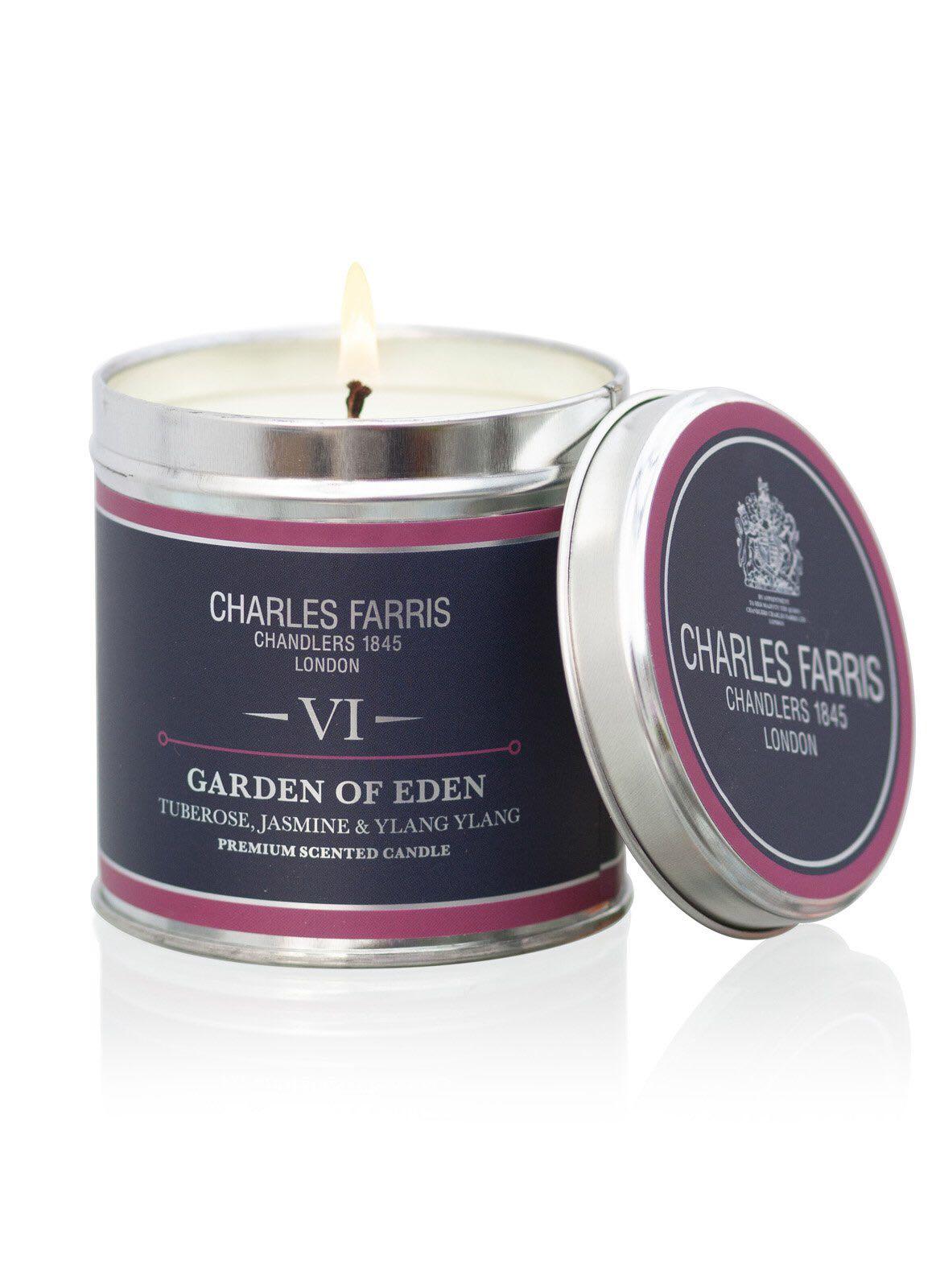 Charles Farris signature tin Garden of Eden 300g 40 hour burn time