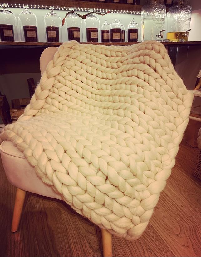 Chunky Knit Throw/Blanket