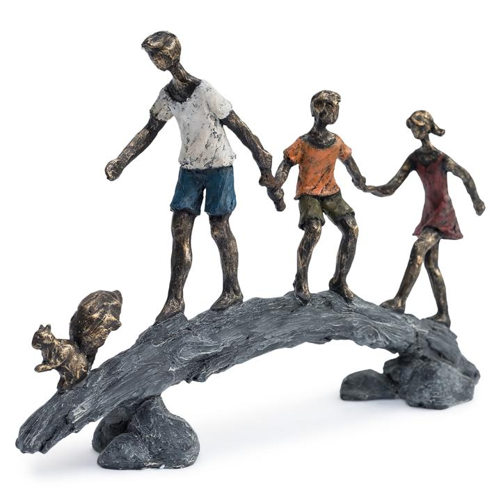 Bronze Sculpture - Children on Bridge