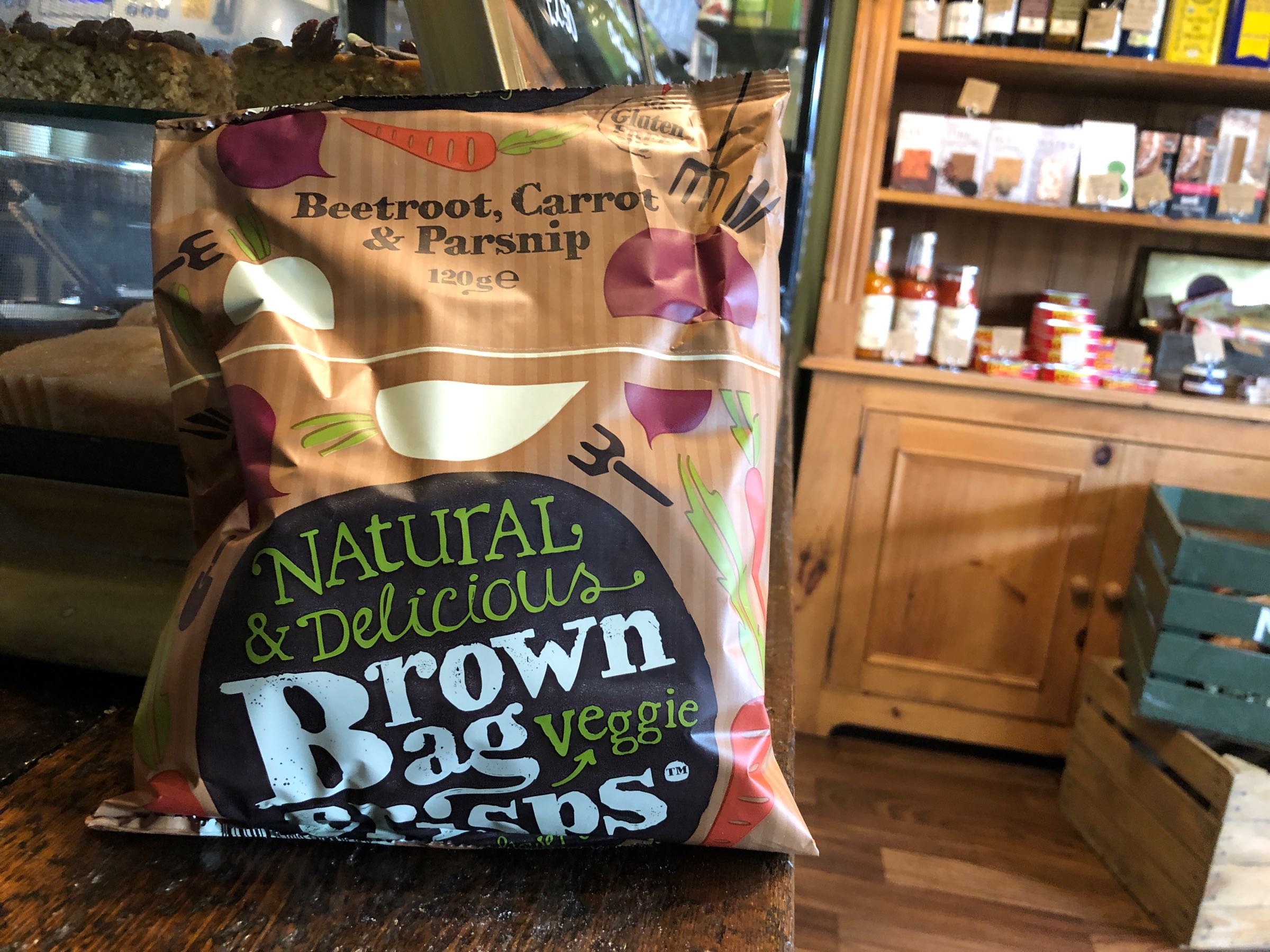 Brown Bag Crisps Veggie Crisps 120g