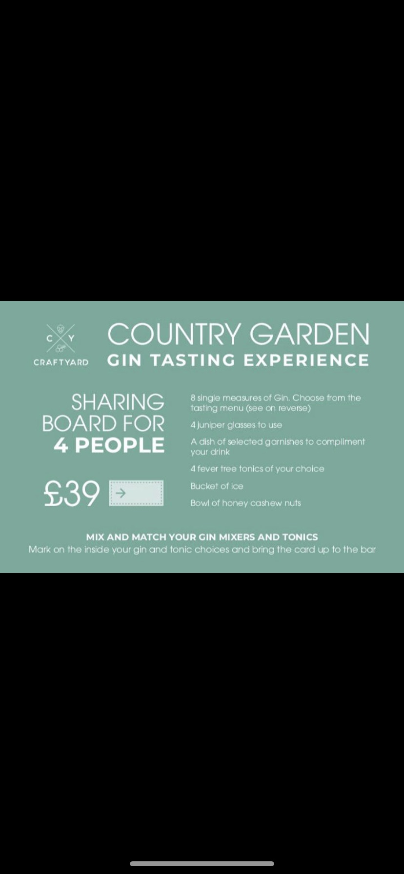 Gin Tasting Experience Voucher (4 Person)