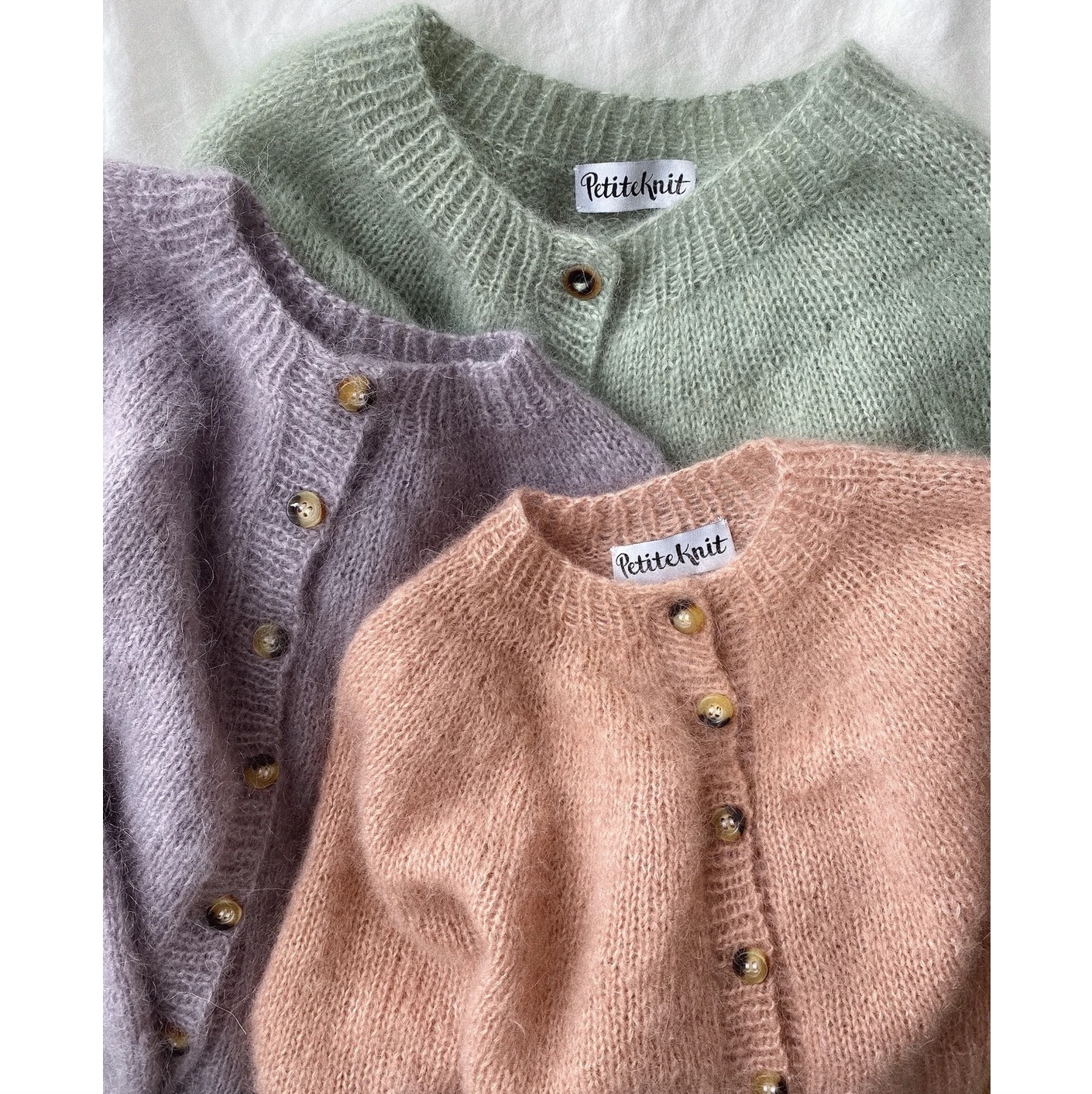 Novice Cardigan Junior - mohair edition, PetiteKnit