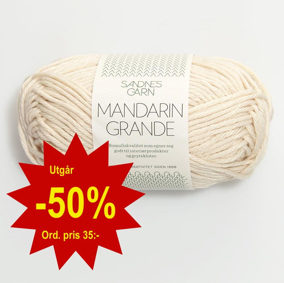 Mandarin Grande (Utgår -50%), Sandnes Garn
