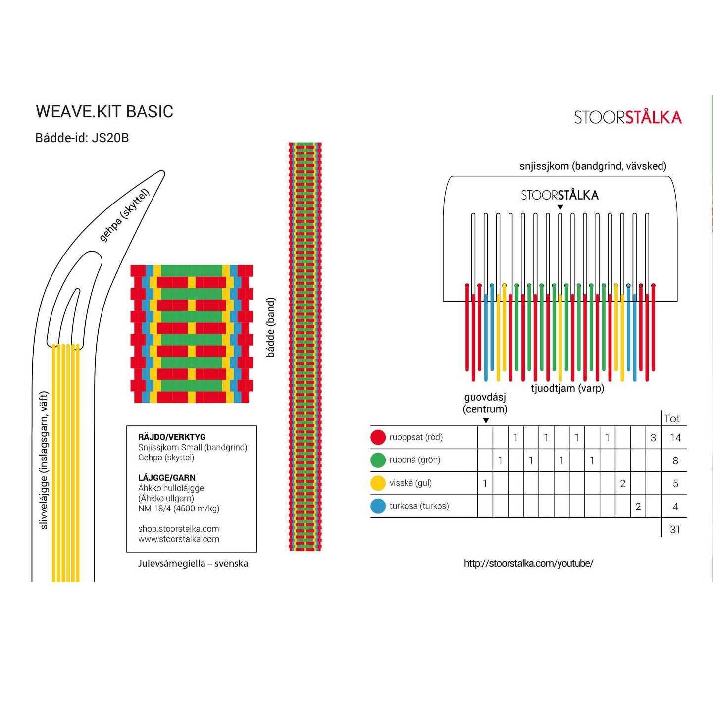 Weave.kit Basic röd-grön, Stoorstålka