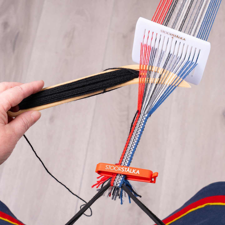Weave.kit Basic Jokkmokk Grå-röd-blå, Stoorstålka