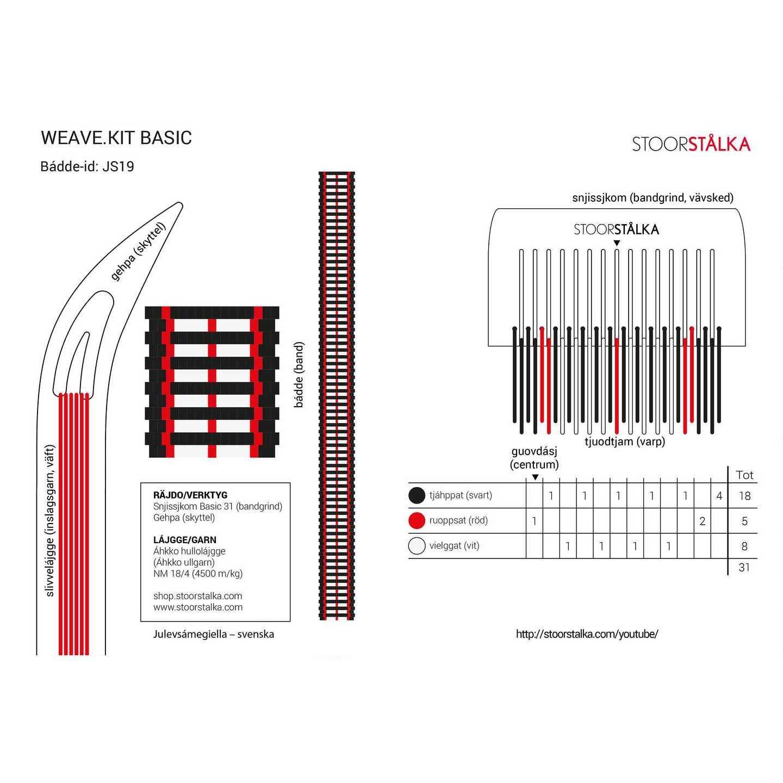 Weave.kit Basic vit-svart, Stoorstålka