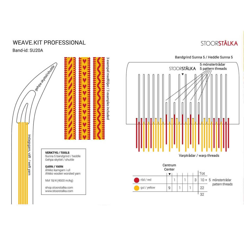 Weave.kit Professional gul-röd, Stoorstålka