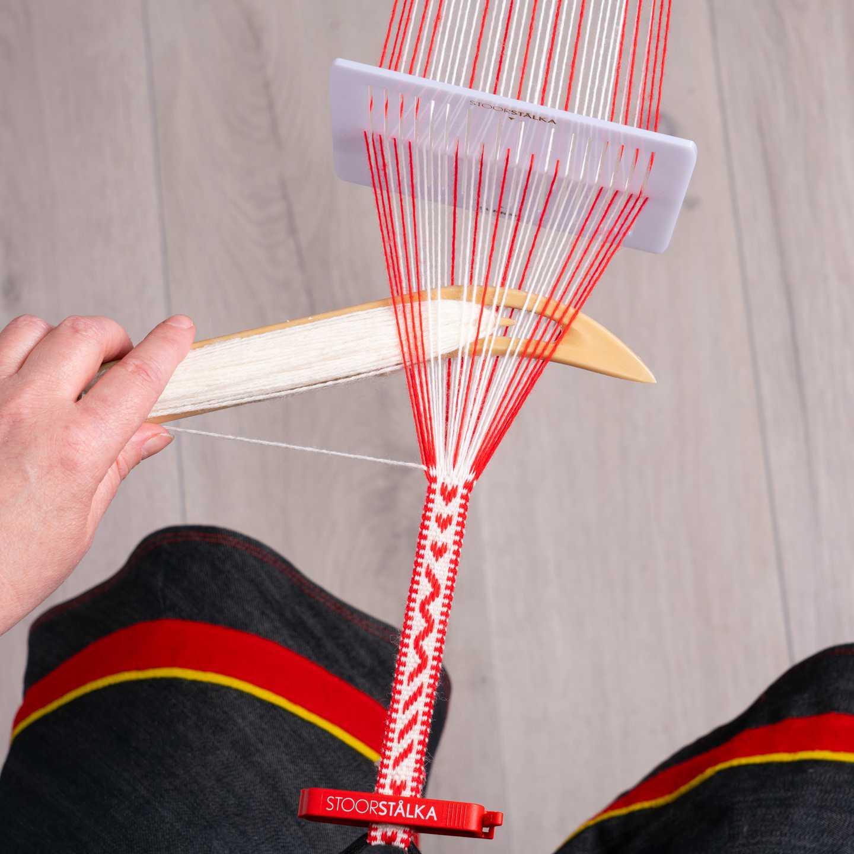 Weave.kit Professional vit-röd, Stoorstålka