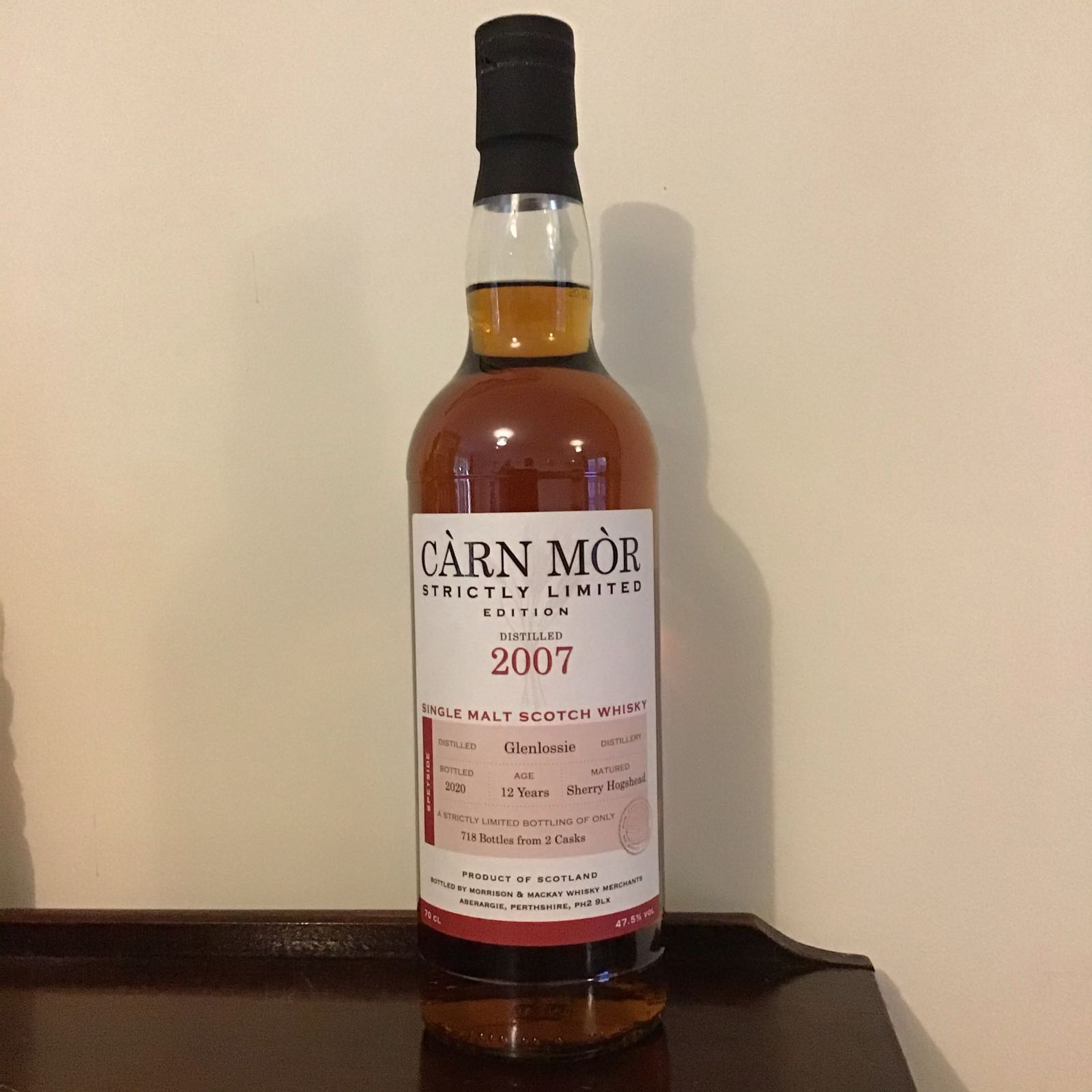 Carn Mor Strictly Limited; Glenlossie 2007 (12 yr old)