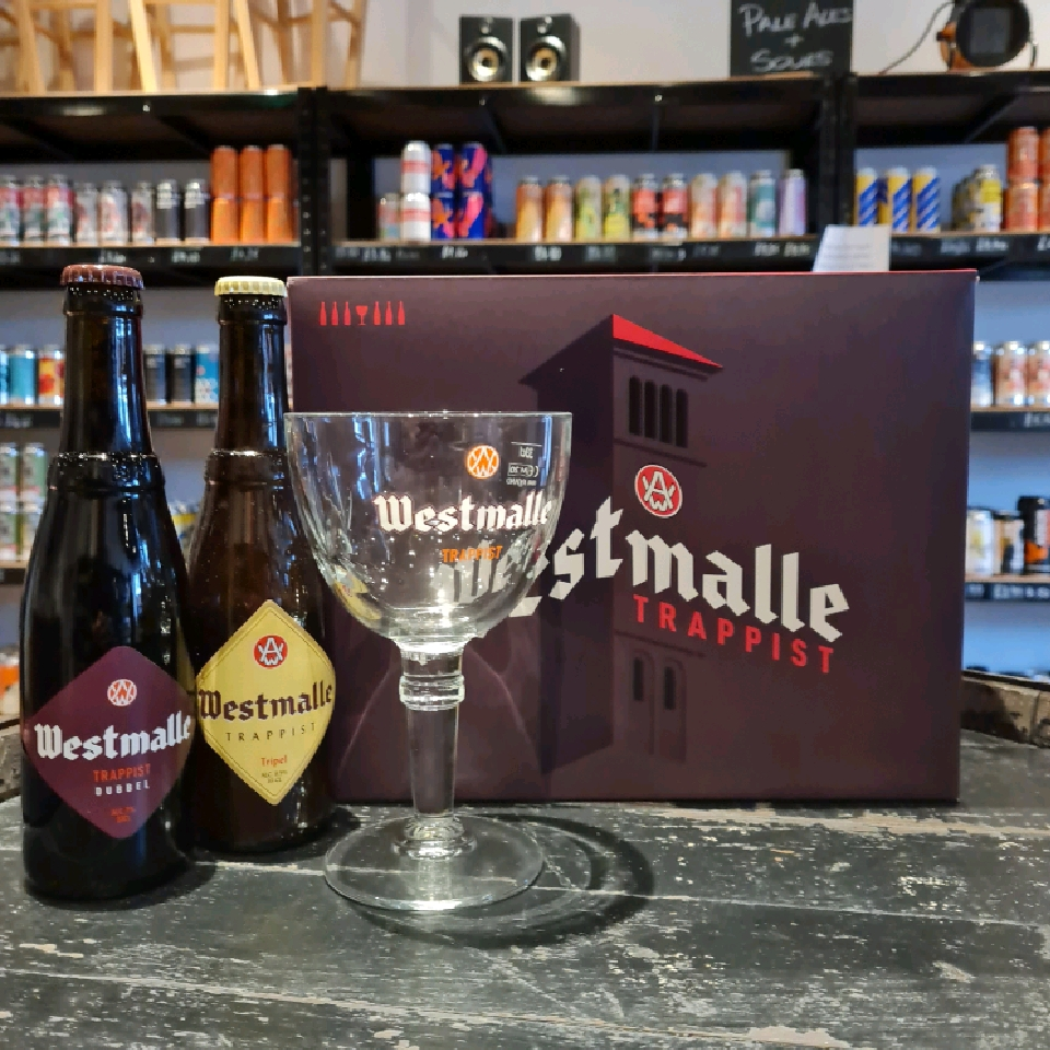 Westmalle Gift Set (6x 330ml bottles + glass)