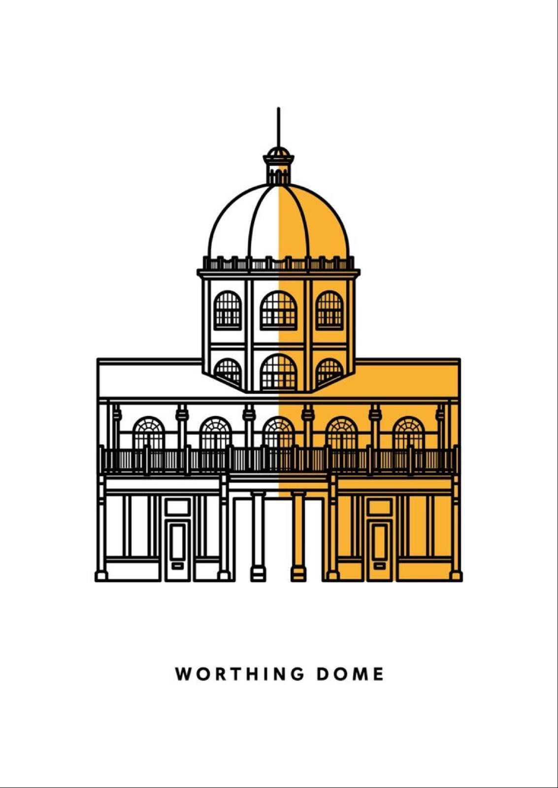 Hannah Adams Designs - Worthing Dome Print