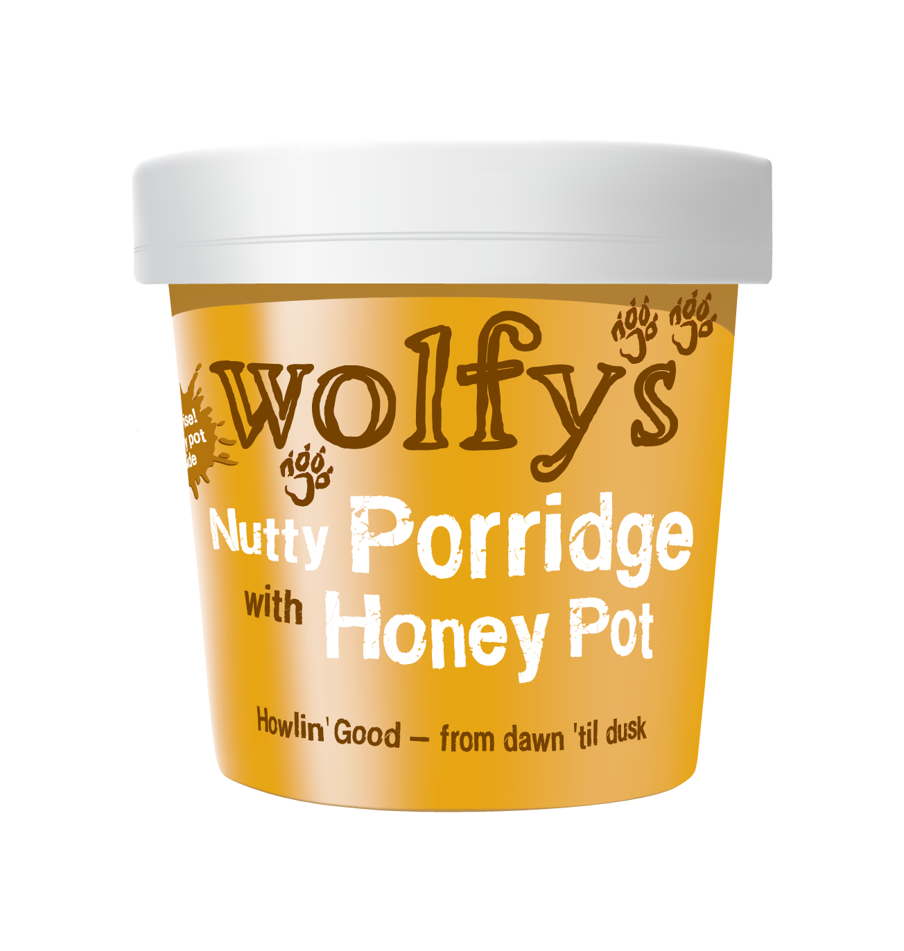 Wolfy's Nutty Porridge with Honey Pot