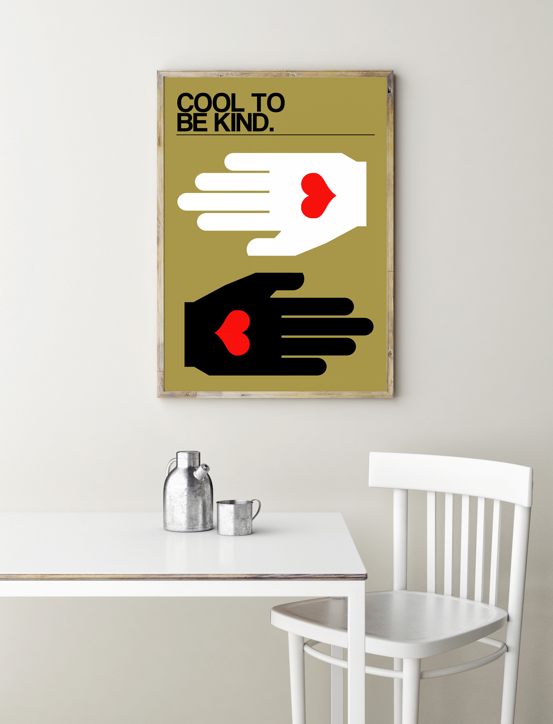 Cool To Be Kind A3 Print