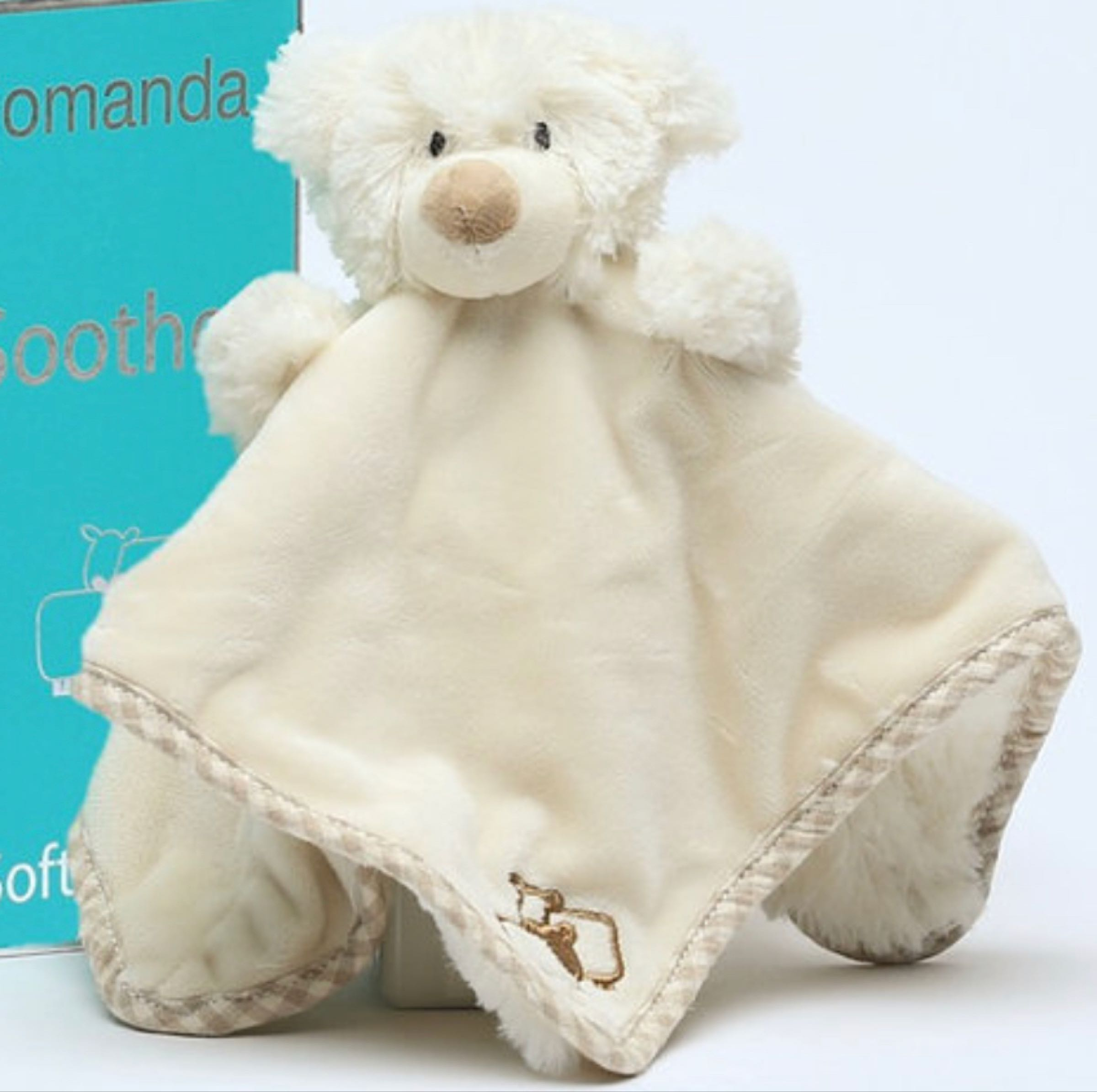 Jomanda Bear Soother / Finger Puppet 29x29cm
