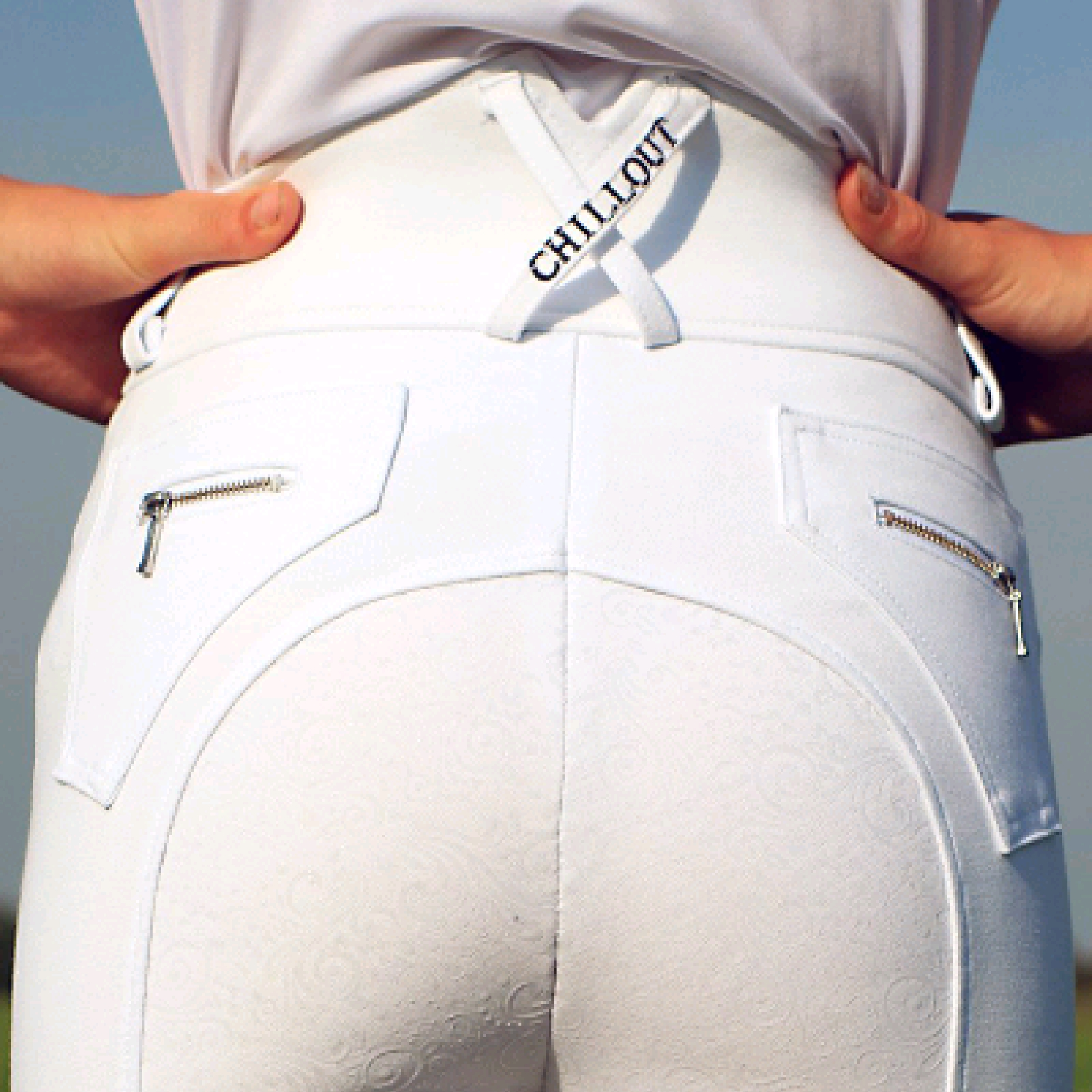 Chillout White Full Seat Breeches