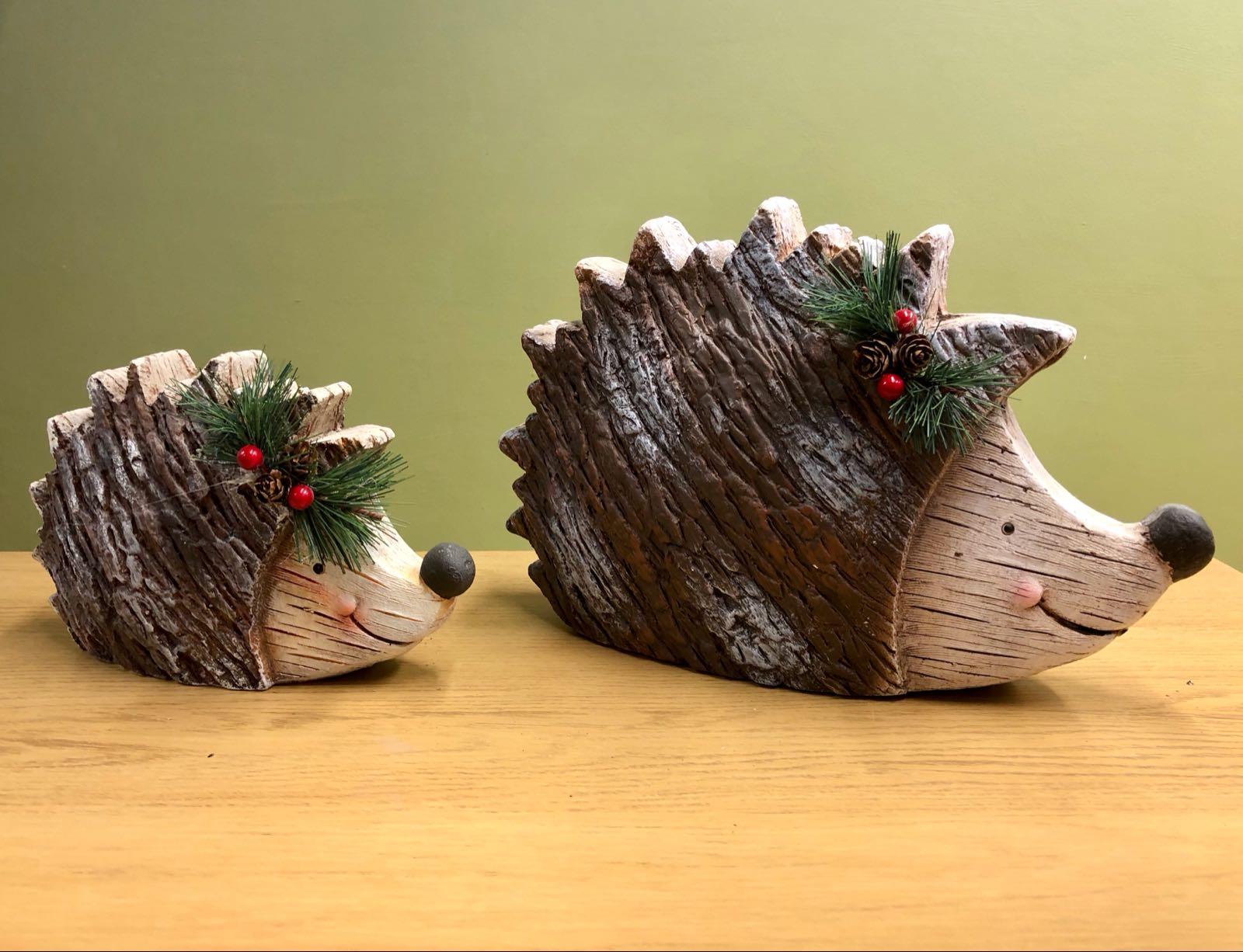 Ceramic winter hedgehog