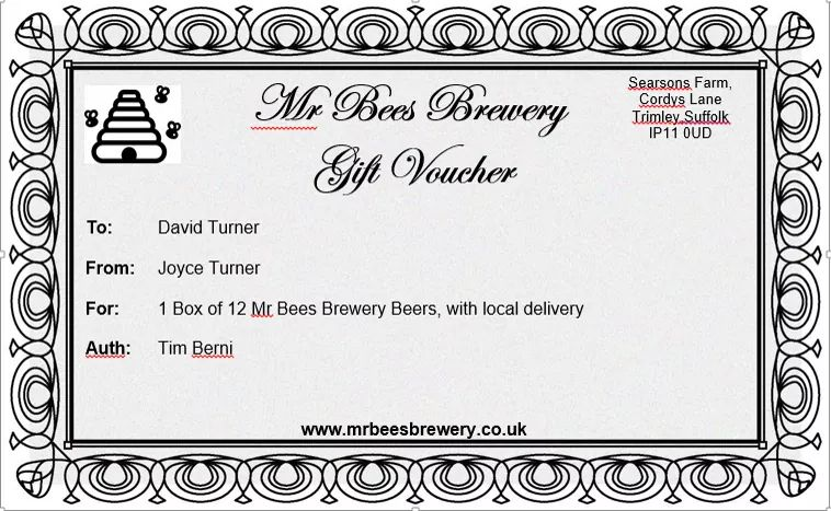 Gift Voucher (local delivery)