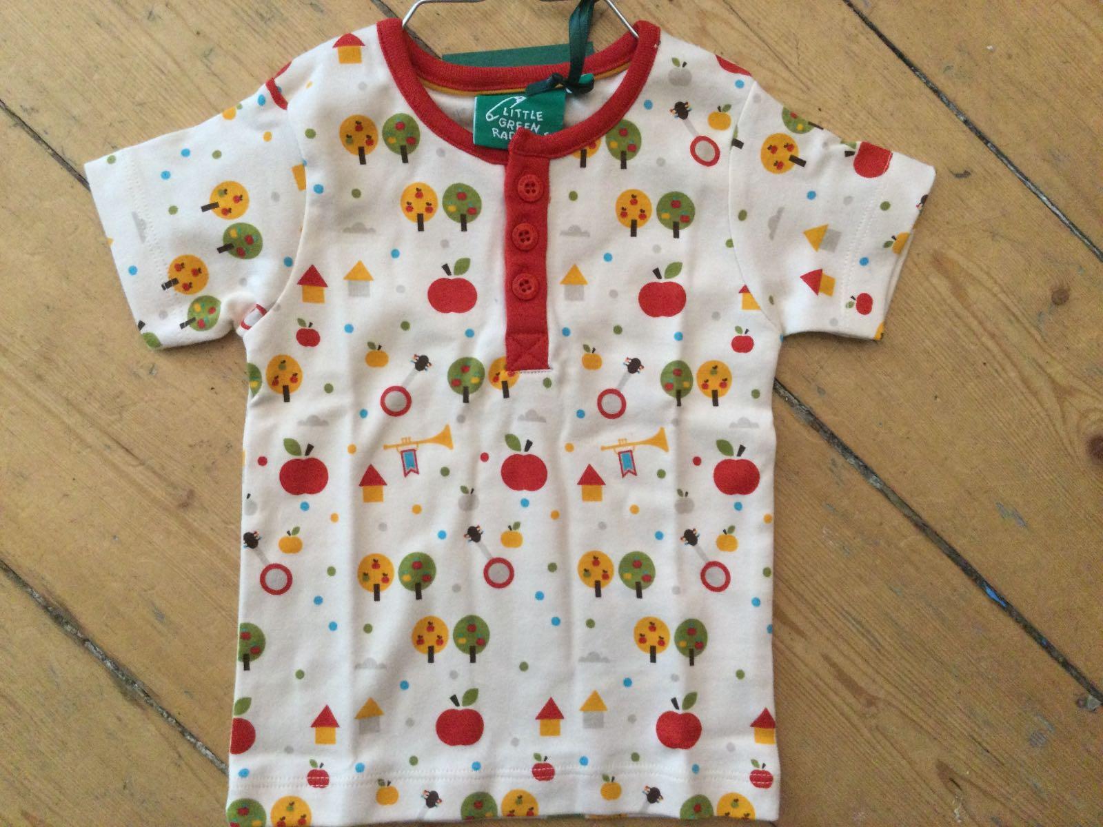 Little Green Radicals - Apple Tree Button Down T-Shirt