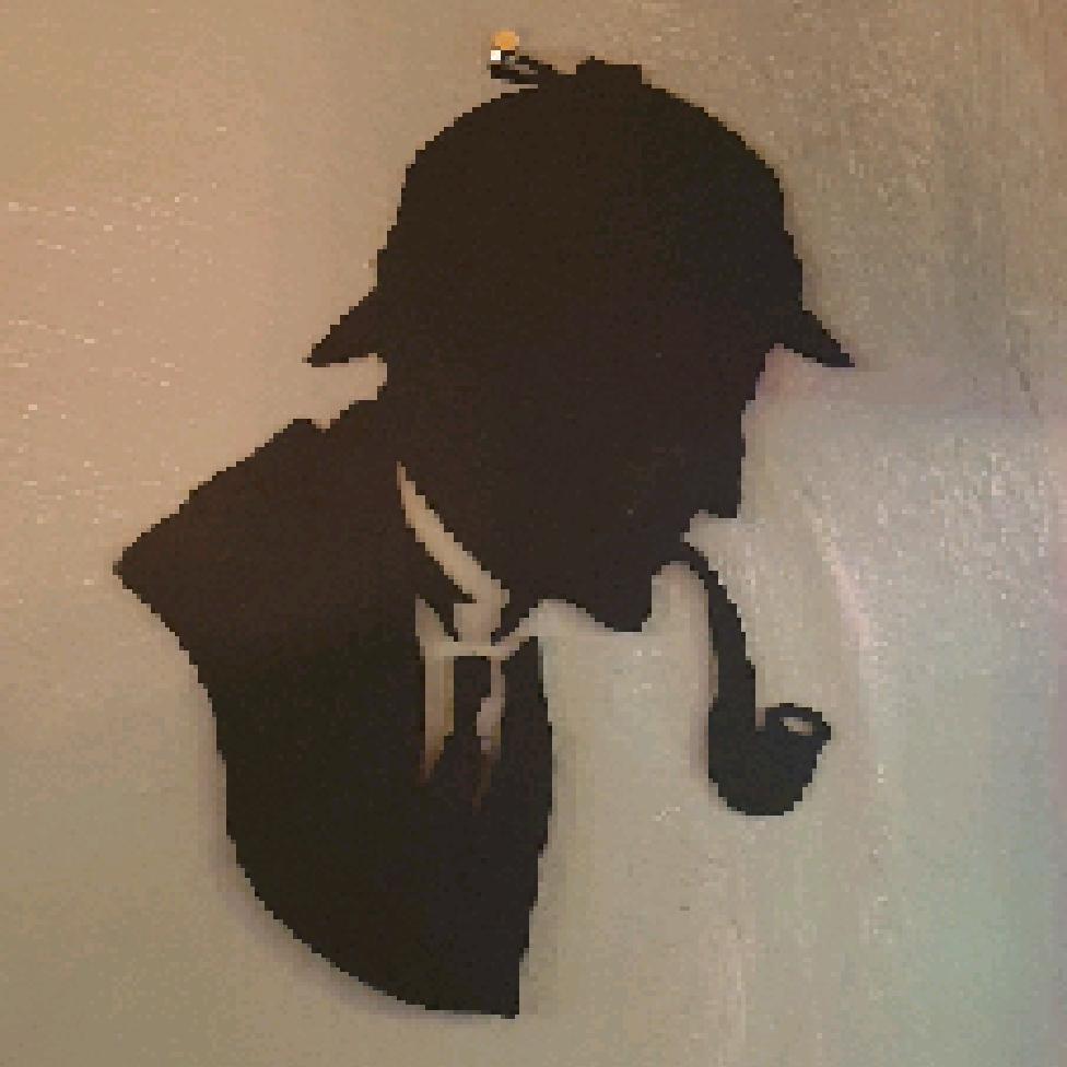 Sherlock Silhouette, Metal Cut Out