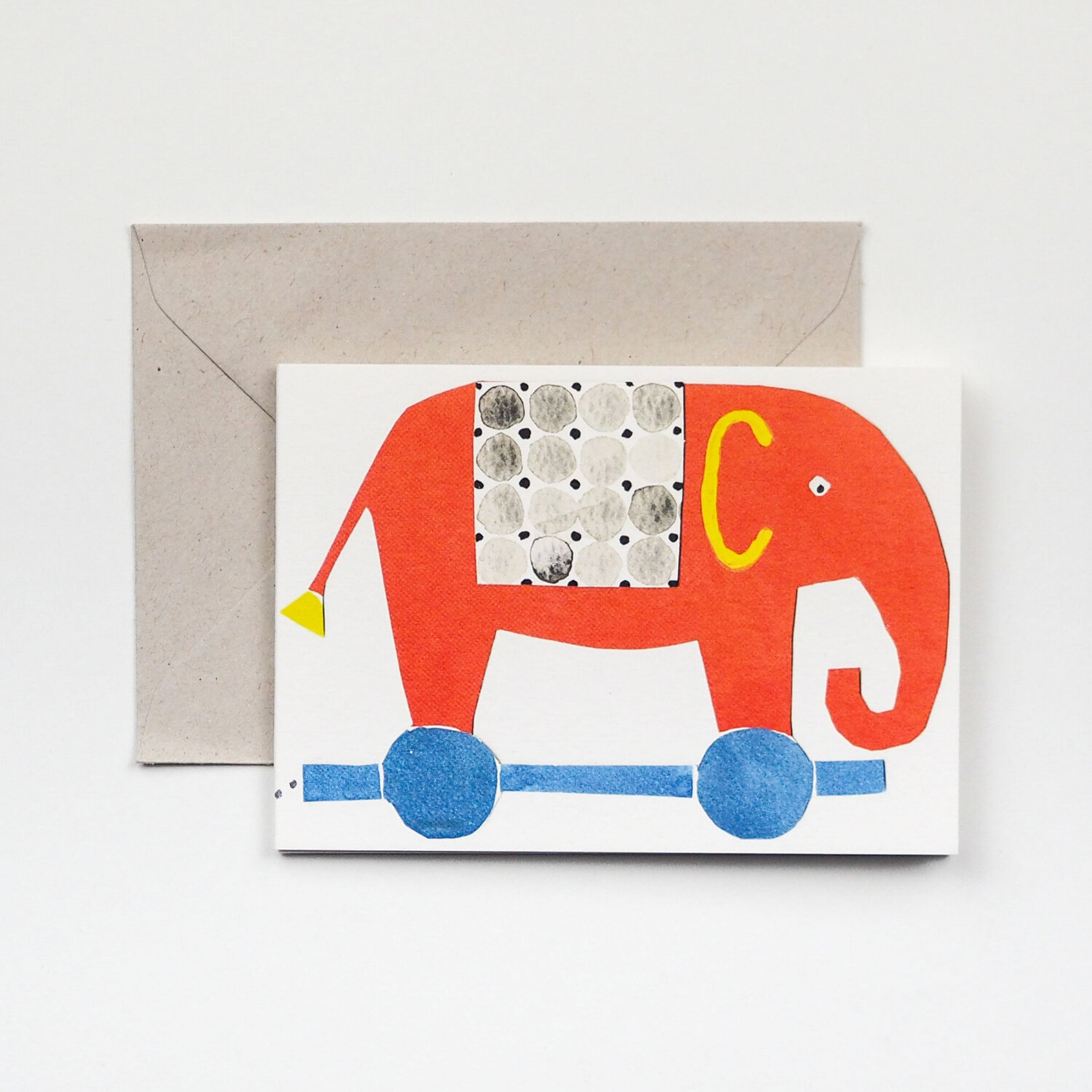 Elephants Fold out Card by Hadley Paper Goods